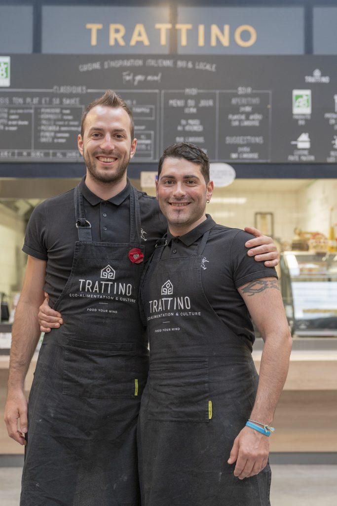 Davide et Ettore fondateurs de Trattino Tratti'team cuisine d'inspiration italienne bio et locale