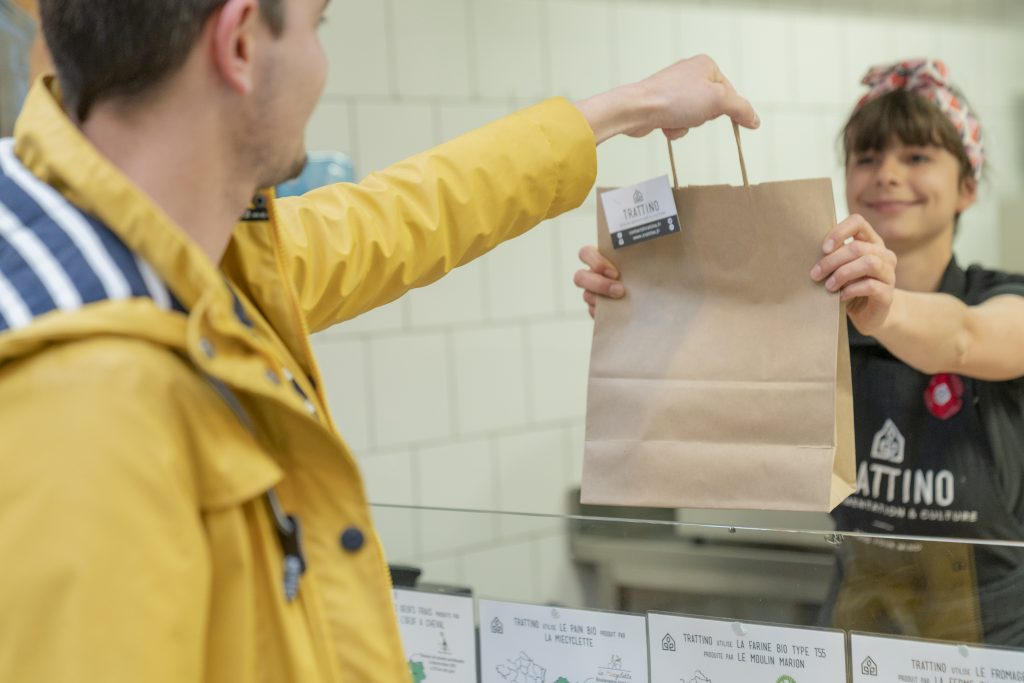 Click and collect Trattino alimentation écologique